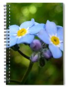 Forget-me-not Spiral Notebook