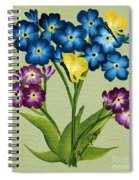 Forget Me Nots And Butterflies Spiral Notebook