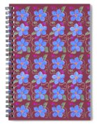 Forgetmenot Pattern On Marsala In Square Spiral Notebook
