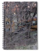 Forgotten Schoolbus Illinois Bend North Texas Spiral Notebook