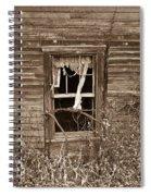 Forlorn Window Spiral Notebook
