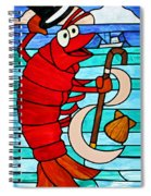 Formal Lobster Spiral Notebook