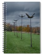 Formation Flying Spiral Notebook