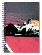 Formula 1 Grand Prix Crash Spiral Notebook