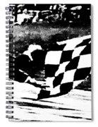 Formula 1 Vintage Checkered Flag Spiral Notebook