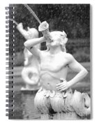Forsyth Park Fountain - Black And White 1 2x3 Spiral Notebook