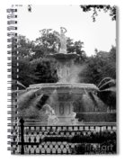 Forsyth Park Fountain - Black And White 2x3 Spiral Notebook