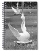 Forsyth Park Fountain - Black And White 3 2x3 Spiral Notebook