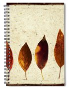 Forsythia Leaves In Fall Spiral Notebook