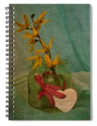 Forsythia Yellow Bells Spiral Notebook