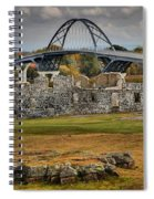 Fort Crown Point Panorama Spiral Notebook