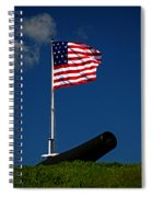 Fort Mchenry Flag And Cannon Spiral Notebook