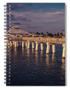 Fort Myers Beach Fishing Pier Spiral Notebook