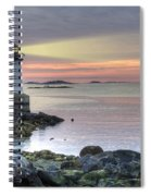 Fort Pickering Lighthouse At Sunrise Spiral Notebook