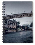 Fort Worth Stockyards Bw Spiral Notebook