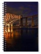 Forth Rail Bridge At Sunset Spiral Notebook