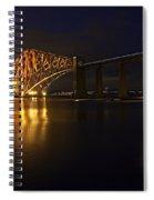 Forth Rail Bridge With Train Spiral Notebook