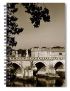 Fortress And Bridge In Sepia Spiral Notebook