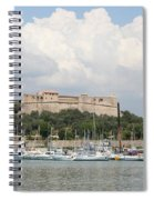 Fortress And Harbor - Cote D'azur Spiral Notebook
