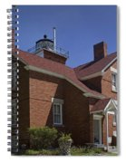 Forty Mile Point Lighthouse In Michigan Number 417 Spiral Notebook