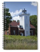 Forty Mile Point Lighthouse In Michigan Number 450 Spiral Notebook