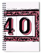 Forty Pink And Black Spiral Notebook