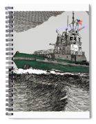 Foss Tractor Tugboat Spiral Notebook