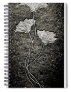 Fossilized Flowers Spiral Notebook