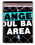 Foul Ball Area Spiral Notebook