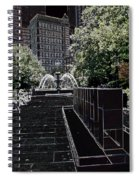 Fountain Abstract Spiral Notebook
