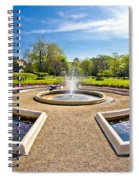 Fountain And Park In Zagreb Spiral Notebook