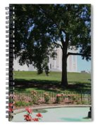 Fountain At Capitol Square  Spiral Notebook