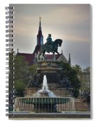 Fountain At Eakins Oval Spiral Notebook
