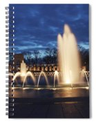 Fountain At Night World War II Memorial Washington Dc Spiral Notebook