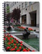 Fountain At Rockefeller Center Nyc Spiral Notebook