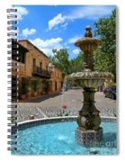 Fountain At Tlaquepaque Arts And Crafts Village Sedona Arizona Spiral Notebook