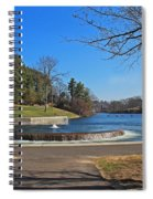 Fountain At Wachusett Dam Spiral Notebook