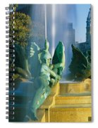 Fountain In Front Of A Building, Logan Spiral Notebook