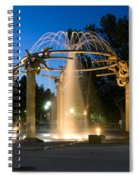 Fountain In Riverfront Park Spiral Notebook
