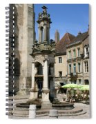 Fountain On The Market Place Autun Spiral Notebook