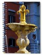 Fountain Piazza Farnese Spiral Notebook