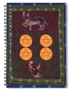 Four Of Pentacles Spiral Notebook