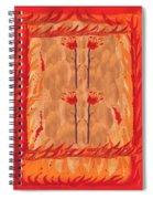 Four Of Wands Spiral Notebook