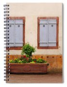 Four Pale Blue Shutters In Alsace France Spiral Notebook