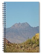 Four Peaks From The Apache Trail Spiral Notebook