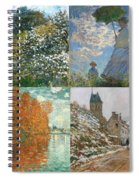 Four Seasons A Collage Of Monets Spiral Notebook