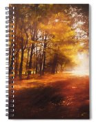 Four Seasons Autumn Impressions At Dawn Spiral Notebook