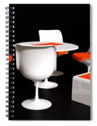 Four Tulip Chairs Spiral Notebook