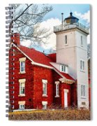 Fourty Mile Point Lighthouse Spiral Notebook
