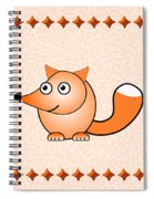 Fox - Animals - Art For Kids Spiral Notebook